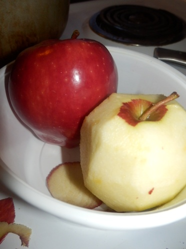 Wash Red Delicious Apples with White Vinegar then rinse with cool water and dry